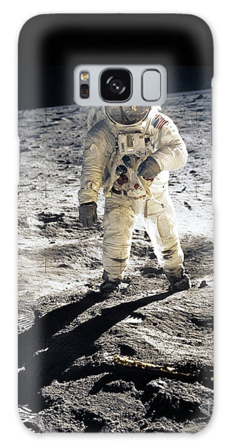 Apollo Galaxy S8 Case featuring the photograph Astronaut by Photo Researchers