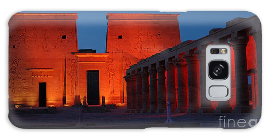 Aswan Galaxy S8 Case featuring the photograph Aswan Temple Of Philea Egypt by Bob Christopher
