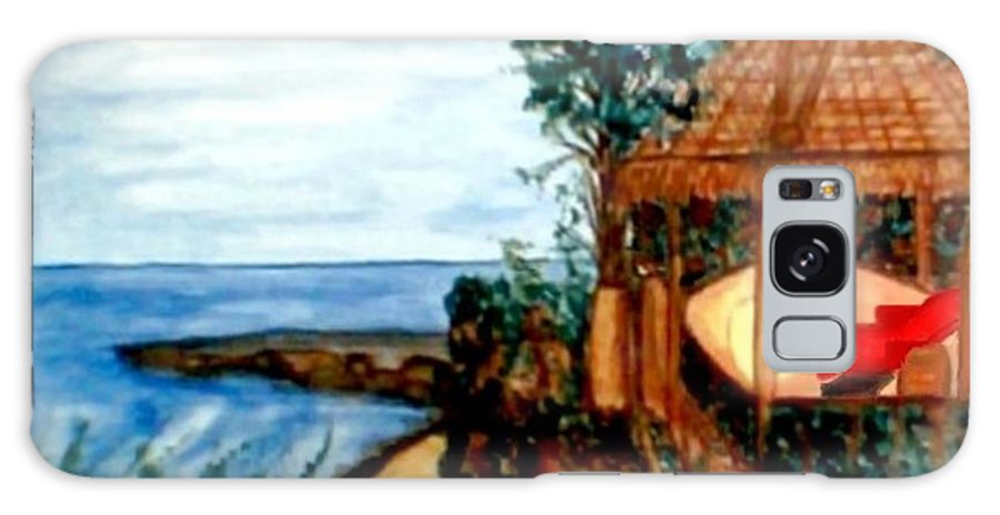 Beaches Galaxy Case featuring the painting At Kuta Beach by Brenda L Spencer