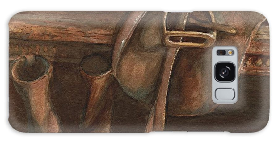 Saddle Galaxy Case featuring the painting At Rest by Mona Davis