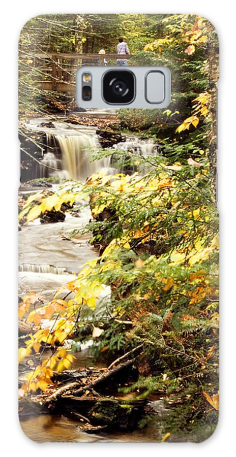 Landscape Galaxy S8 Case featuring the photograph At The Beginning Of Chapel Falls by Amanda Kiplinger