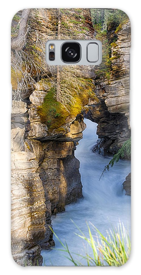 Jasper - Canada Galaxy S8 Case featuring the photograph Athabasca Falls Jasper National Park Canada by Yves Gagnon