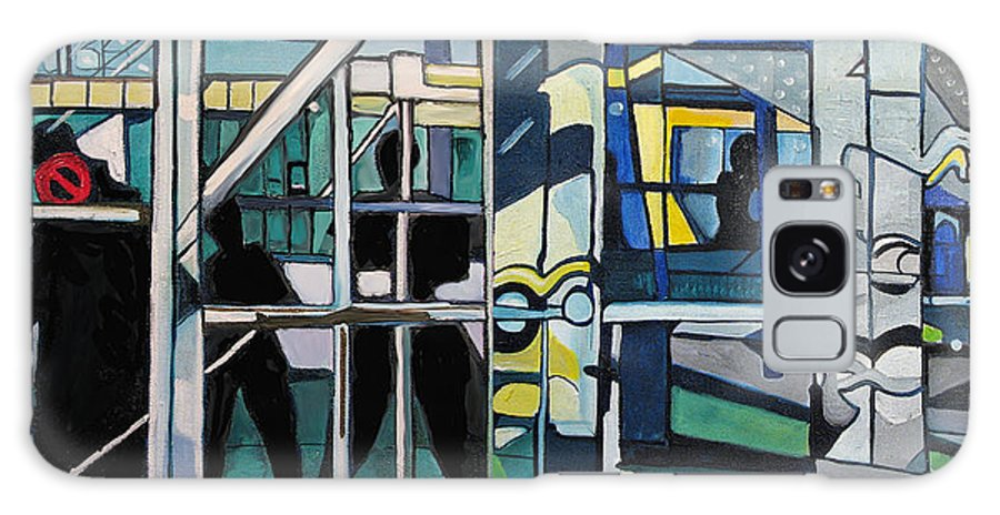 Abstract Galaxy Case featuring the painting Atlanic City Abstract No.1 by Patricia Arroyo