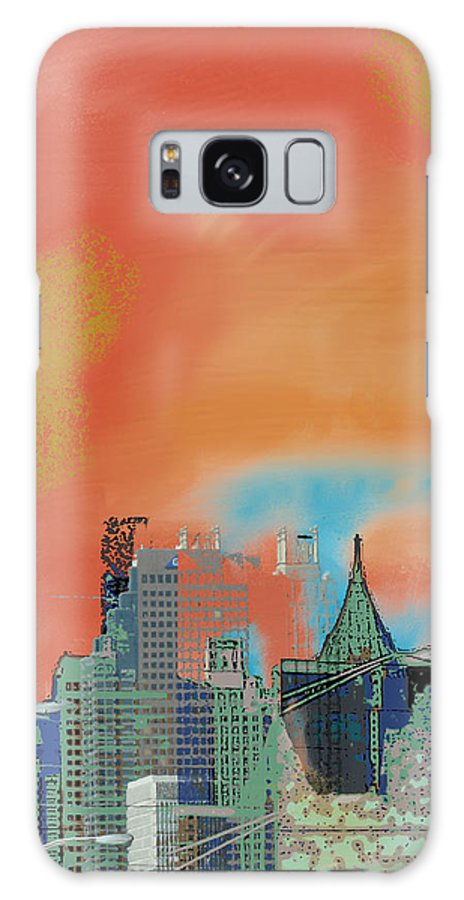 Atlanta Galaxy S8 Case featuring the mixed media Atlanta Abstract After The Tornado by Ann Tracy