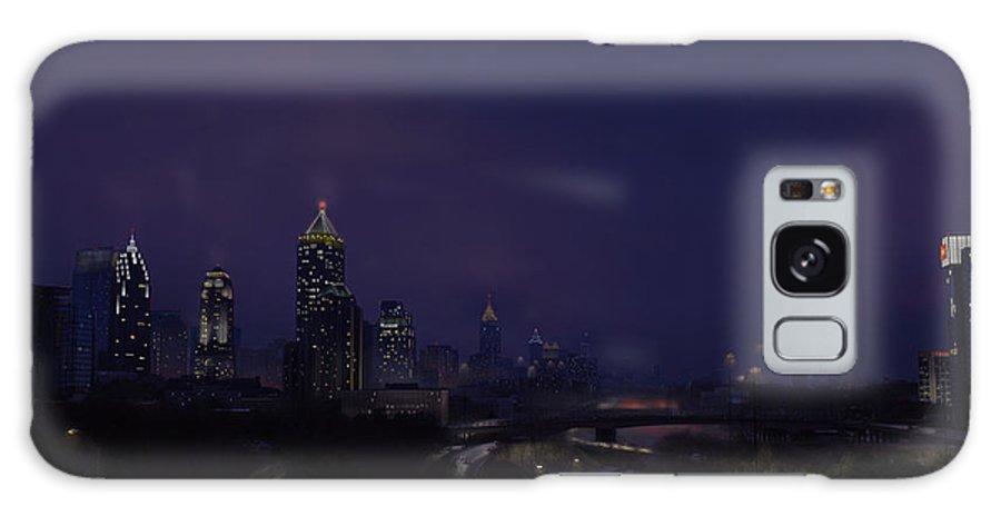 Atlanta Galaxy S8 Case featuring the digital art Atlanta Nights by Bryan Horn