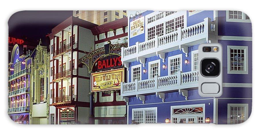 Atlantic City Boardwalk Galaxy S8 Case featuring the photograph Atlantic City Boardwalk At Night by Sally Weigand