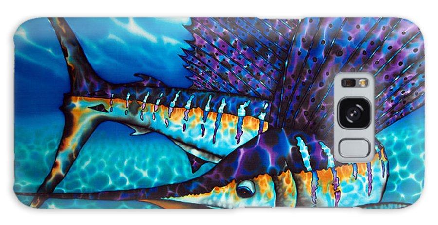 Sailfish Galaxy Case featuring the painting Atlantic Sailfish by Daniel Jean-Baptiste