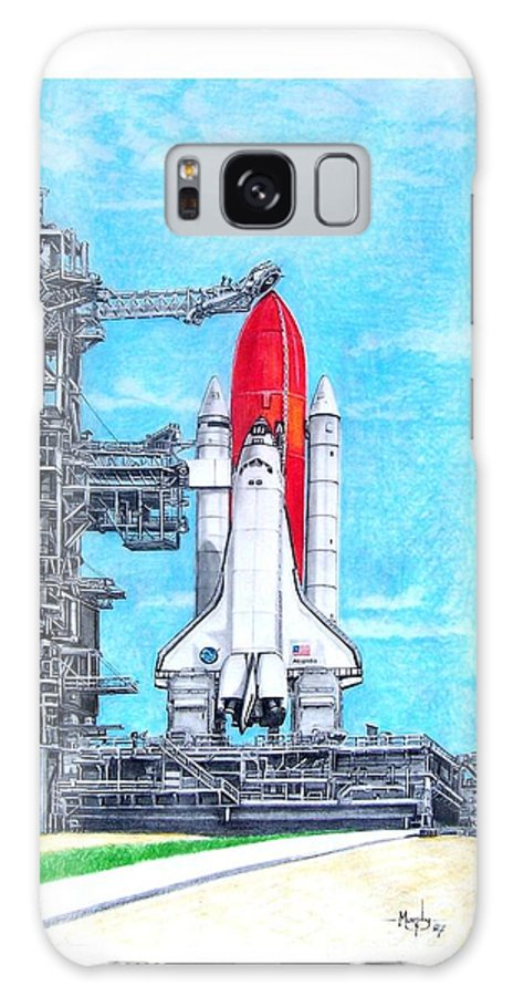 Drawing Galaxy Case featuring the drawing Atlantis by Murphy Elliott