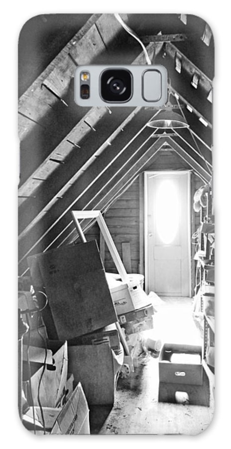 Attic Galaxy S8 Case featuring the photograph Attic Space Bw by Francesa Miller