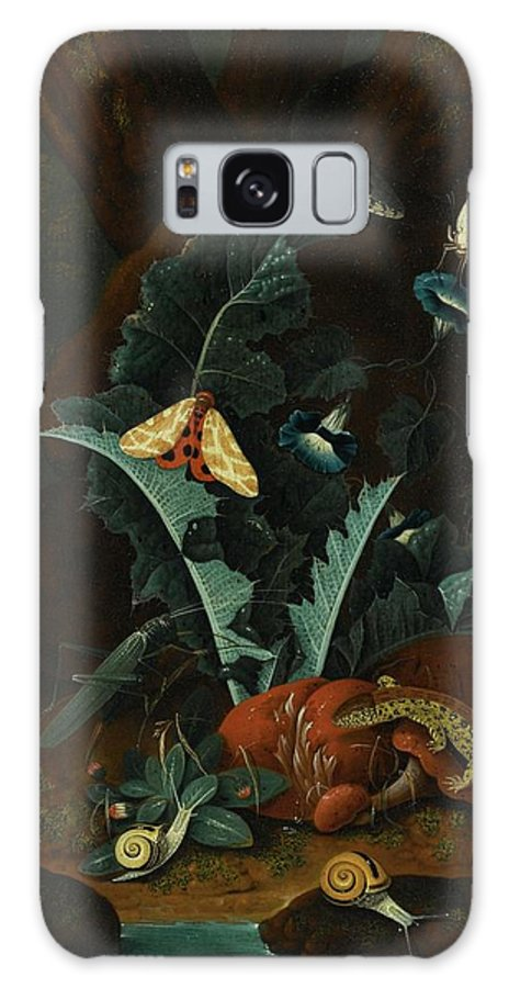 Johann Falch Augsburg Forest Floor Still Life With Snails Galaxy S8 Case featuring the painting Augsburg Forest Floor Still Life by MotionAge Designs
