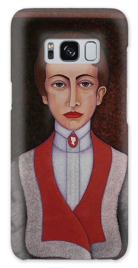 Aurelia De Sousa Galaxy S8 Case featuring the painting Aurelia De Sousa - The Narrative Of The Silent House by Madalena Lobao-Tello