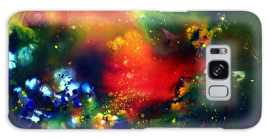 Abstract Galaxy S8 Case featuring the painting Aurora Borealis by Luiza Vizoli