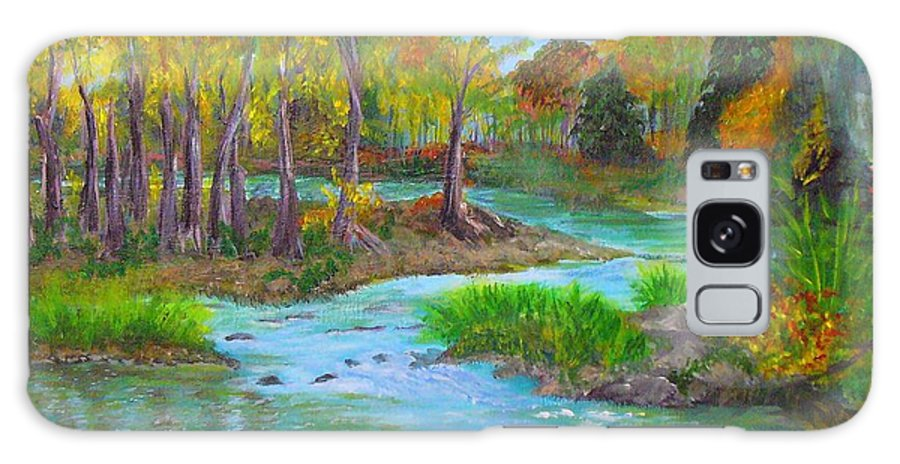 Nature Galaxy S8 Case featuring the painting Ausable River by Peggy King