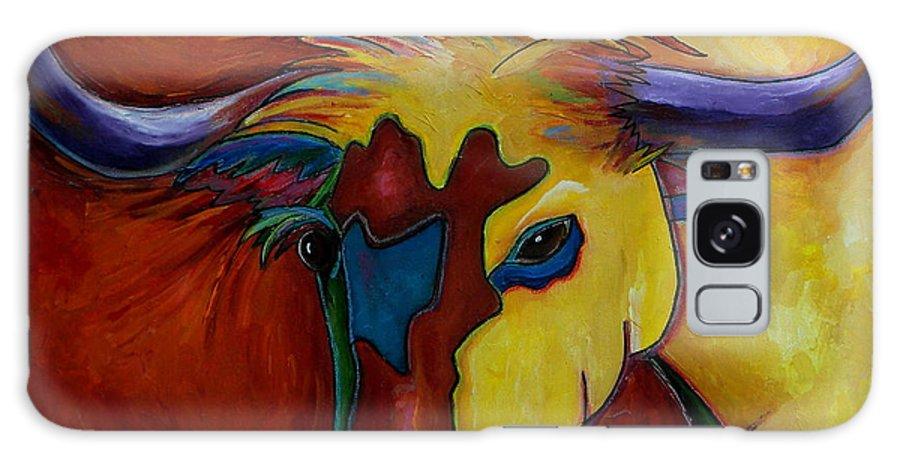 Longhorns Galaxy S8 Case featuring the painting Austin Longhorn by Patti Schermerhorn