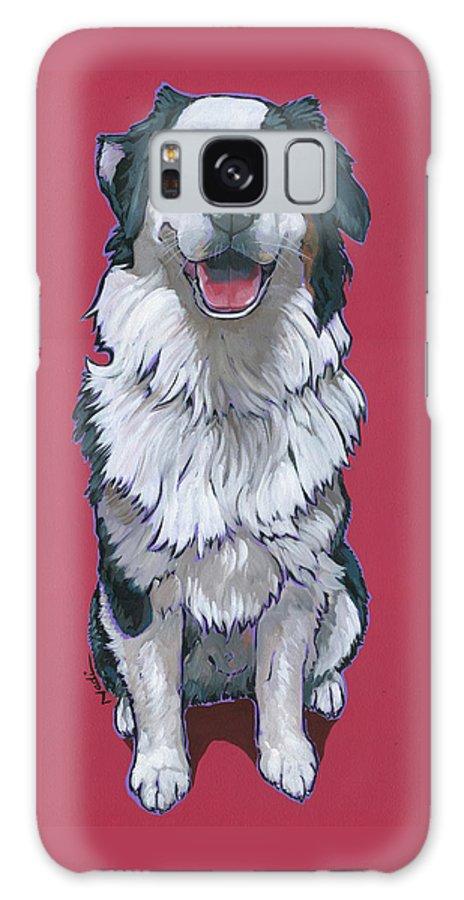 Australian Shepherd Galaxy S8 Case featuring the painting Australian Shepherd by Nadi Spencer