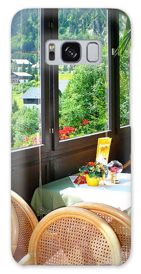 Austria Galaxy S8 Case featuring the photograph Austrian Cafe by Carol Groenen