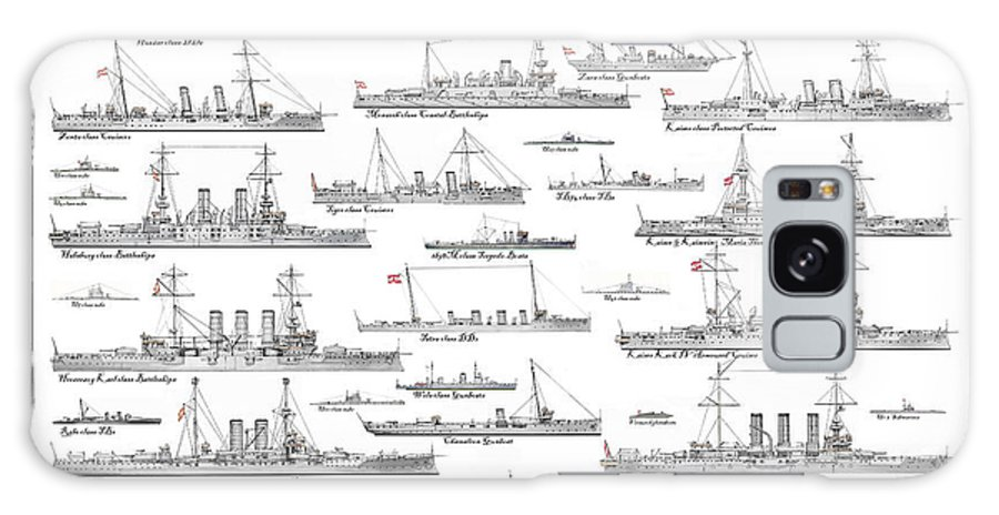 Fleet Galaxy Case featuring the painting Austro-hungarian Navy by The Collectioner