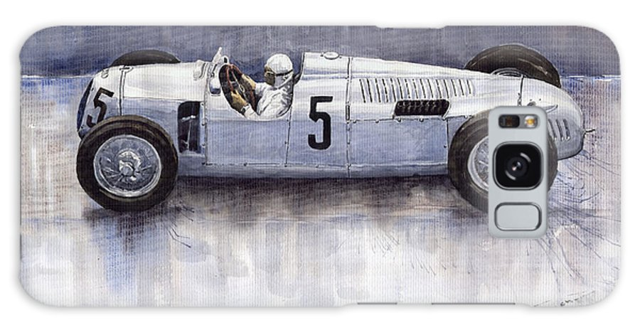Auto Galaxy S8 Case featuring the painting Auto Union 1936 Type C by Yuriy Shevchuk