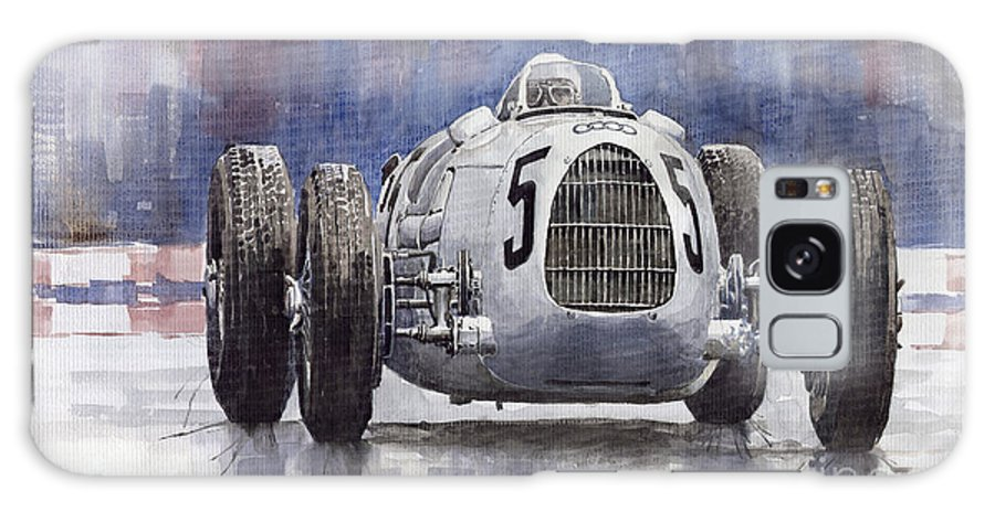Auto Galaxy S8 Case featuring the painting Auto-union Type C 1936 by Yuriy Shevchuk