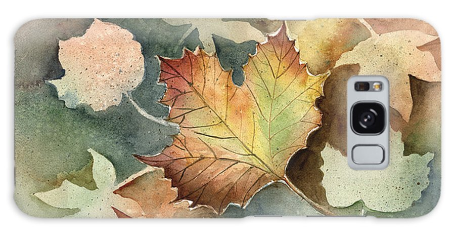 Leaf Galaxy Case featuring the painting Autumn Again by Arline Wagner