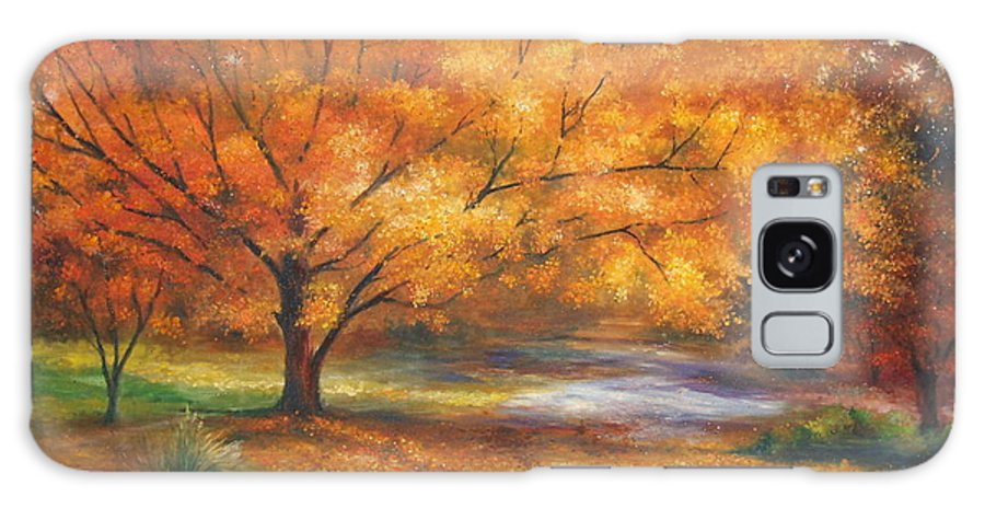 Fall Galaxy Case featuring the painting Autumn by Ann Cockerill