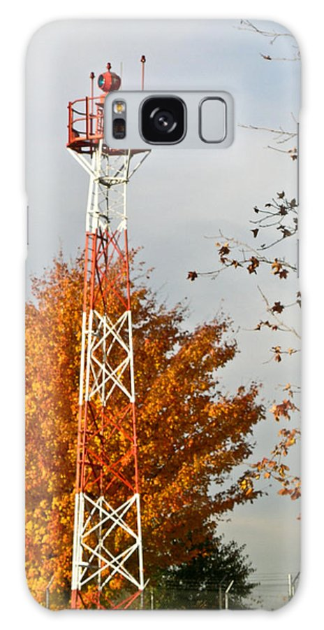 Autumn Galaxy S8 Case featuring the photograph Autumn At The Airport Light Tower by Douglas Barnett