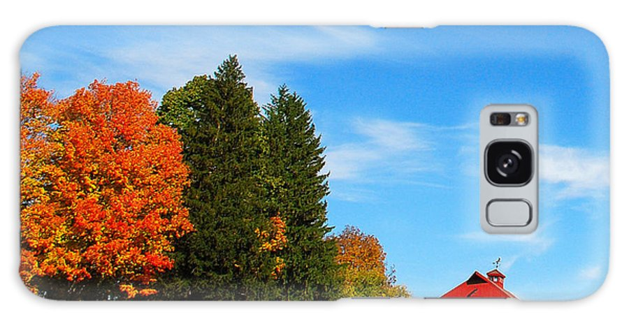 Country Galaxy S8 Case featuring the photograph Autumn Barn by Mark Wiley