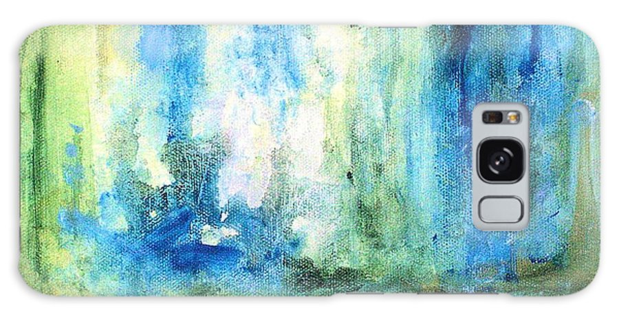 Art Galaxy S8 Case featuring the painting Spring Rain by Laurie Rohner