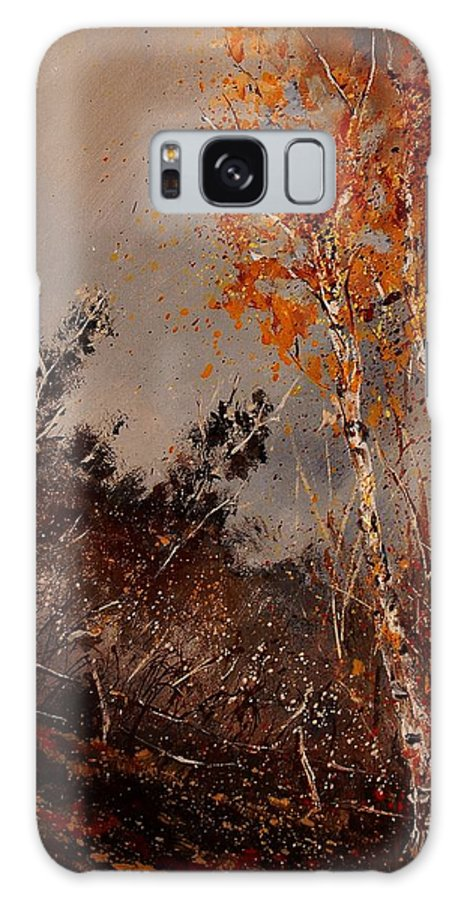 Tree Galaxy S8 Case featuring the painting Autumn Birches by Pol Ledent