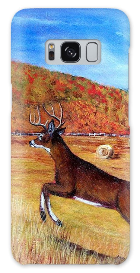 Deer Galaxy Case featuring the painting Autumn Bounding by Tami Booher