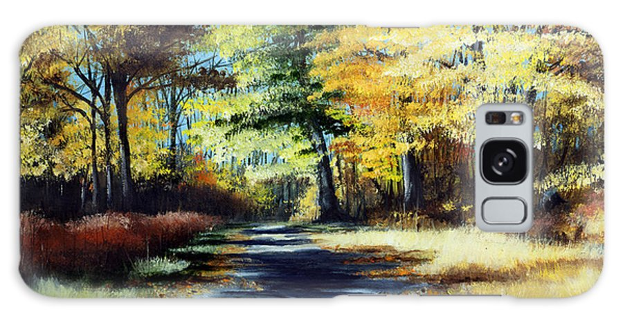 Landscape Galaxy S8 Case featuring the painting Autumn Colors by Paul Walsh
