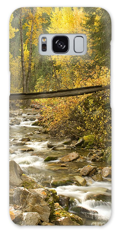 Cross Galaxy Case featuring the photograph Autumn Crossing by Idaho Scenic Images Linda Lantzy