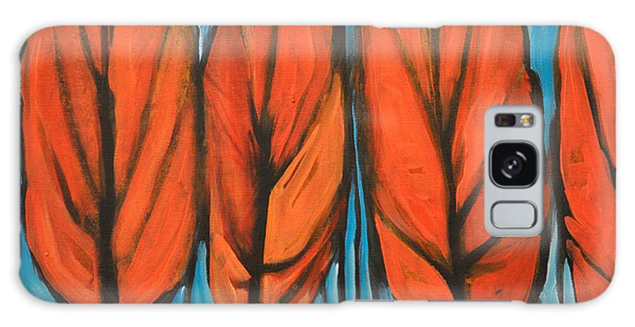 Fall Galaxy S8 Case featuring the painting Autumn Dance by Tim Nyberg