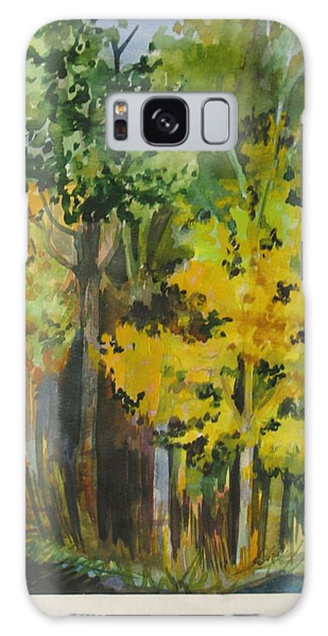 Landscape Galaxy S8 Case featuring the painting Autumn Day by Anna Duyunova