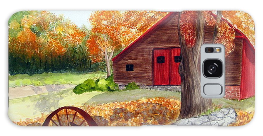 Barn Galaxy S8 Case featuring the painting Autumn Day by Julia RIETZ