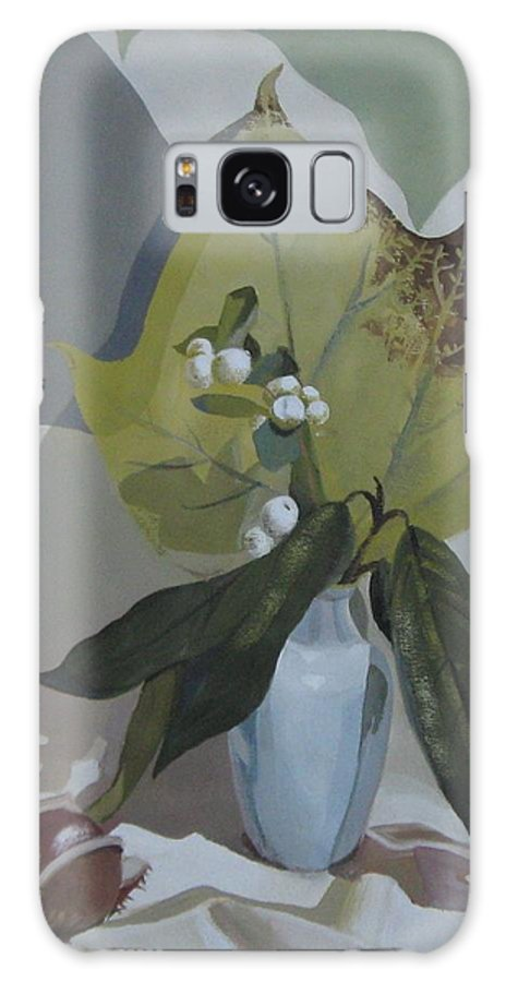Still Life Galaxy Case featuring the painting Autumn by Elena Oleniuc