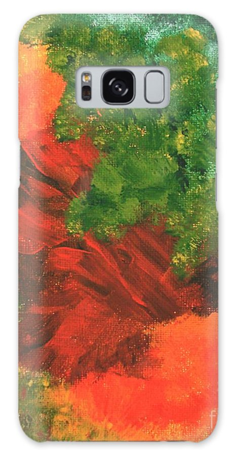 Abstract Galaxy S8 Case featuring the painting Autumn Equinox by Itaya Lightbourne