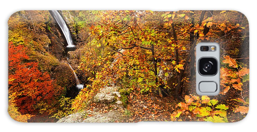 Waterfall Galaxy S8 Case featuring the photograph Autumn Falls by Evgeni Dinev