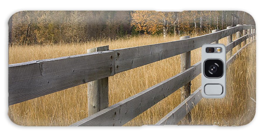 Grass Galaxy S8 Case featuring the photograph Autumn Fence by Idaho Scenic Images Linda Lantzy
