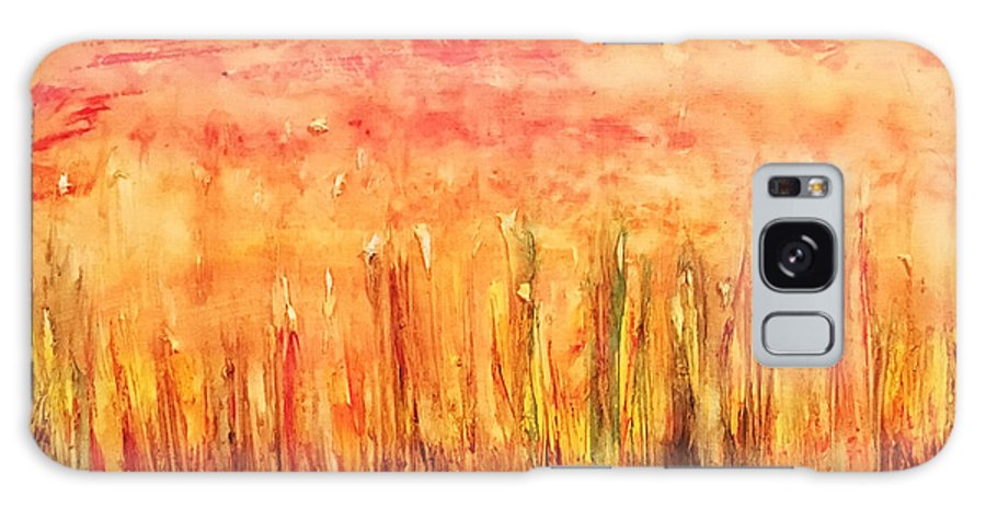 Articulated Nature Galaxy S8 Case featuring the painting Autumn Fire by Sara Sadat