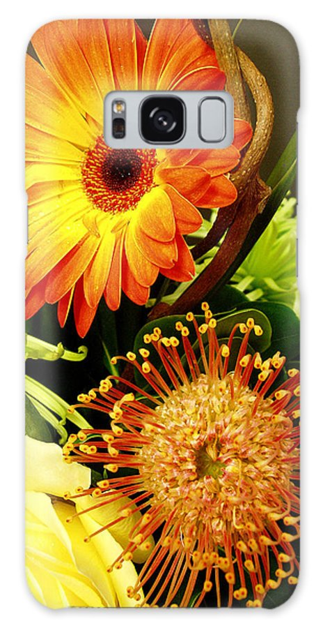 Autumn Galaxy Case featuring the photograph Autumn Flower Arrangement by Nancy Mueller