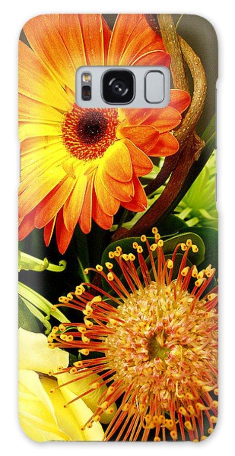 Autumn Galaxy S8 Case featuring the photograph Autumn Flower Arrangement by Nancy Mueller