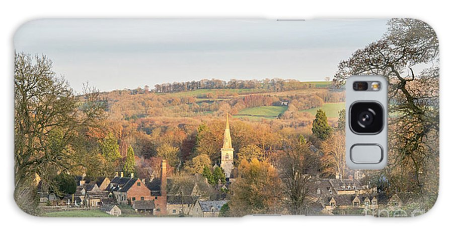 Lower Slaughter Galaxy S8 Case featuring the photograph Autumn Glow Lower Slaughter by Tim Gainey