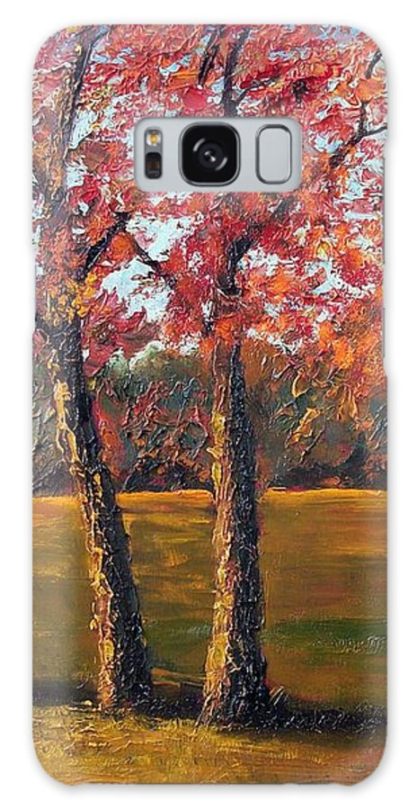 Landscape Galaxy Case featuring the painting Autumn Glow by Tami Booher
