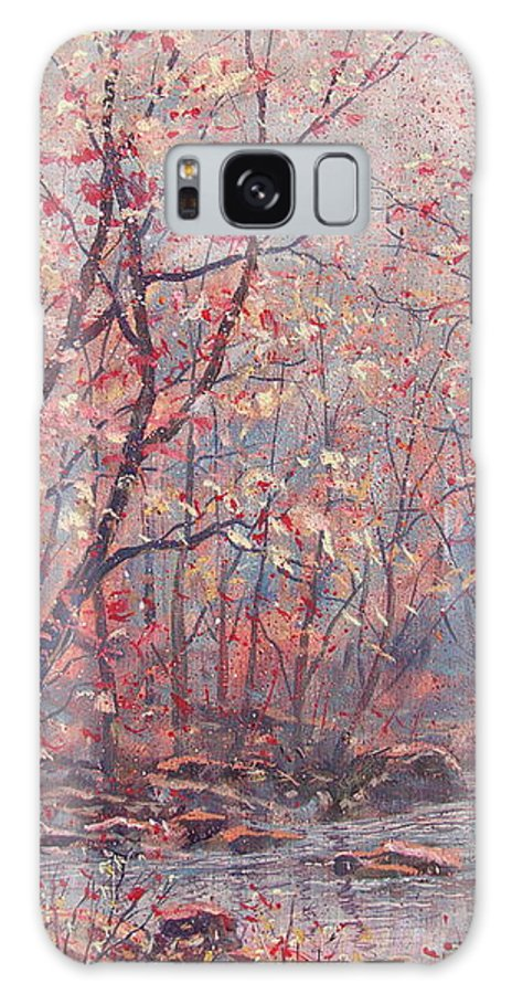 Landscape Galaxy S8 Case featuring the painting Autumn Harmony. by Leonard Holland