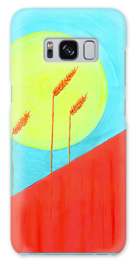 Landscape Galaxy Case featuring the painting Autumn Harvest by J R Seymour
