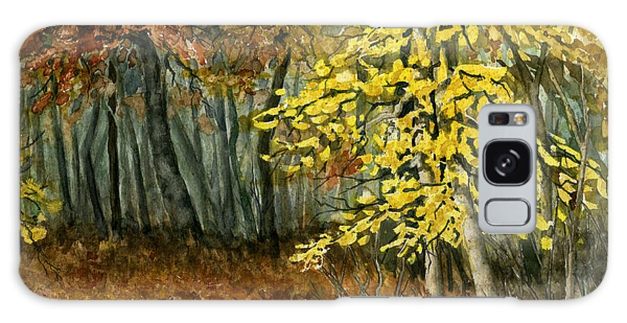 Landscape Galaxy Case featuring the painting Autumn Hollow I by Mary Tuomi
