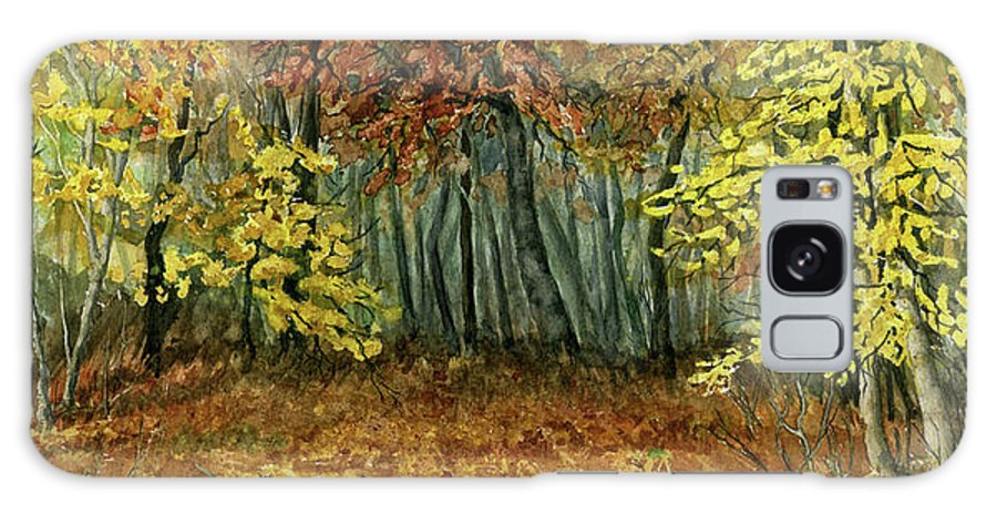 Autumn Galaxy S8 Case featuring the painting Autumn Hollow by Mary Tuomi