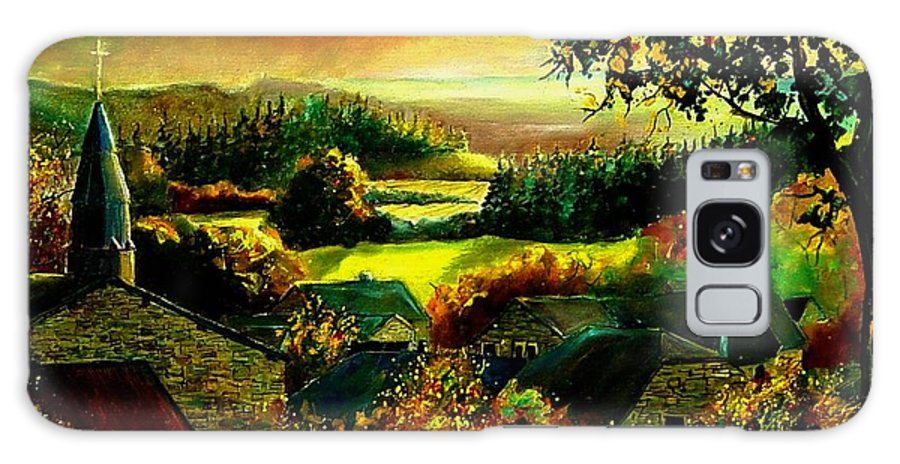 Landscape Galaxy S8 Case featuring the painting Autumn In Our Village Ardennes by Pol Ledent