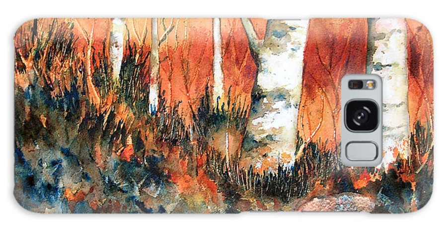 Landscape Galaxy S8 Case featuring the painting Autumn by Karen Stark